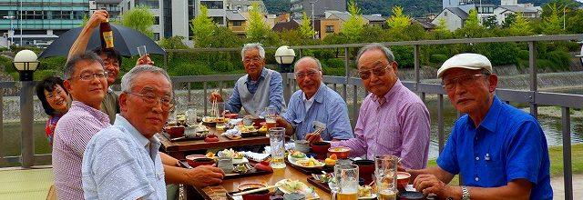 ◎H28.9.4. 第11回 先斗町川床料理と幕末維新史跡めぐり(青春)